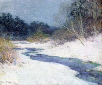 Thawing Brook 1921 | Willard Leroy Metcalf | oil painting
