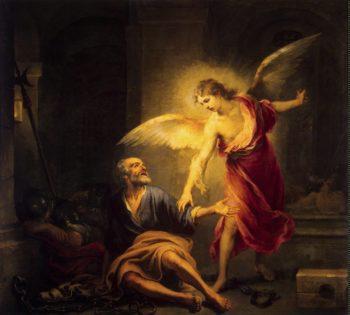 Liberation of St Peter | Murillo Bartolome Esteban | oil painting