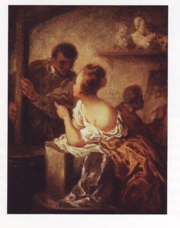 The studio   Honore Daumier   oil painting