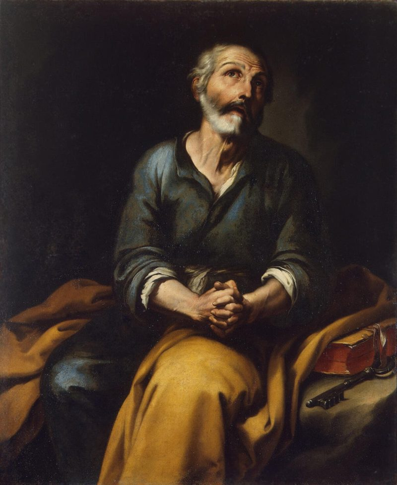 Repentance of St Peter | Murillo Bartolome Esteban | oil painting