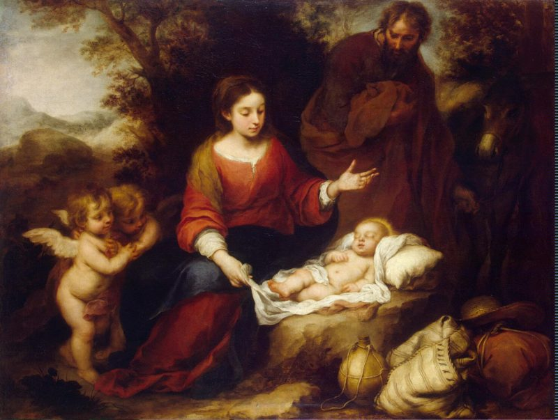 Rest on the Flight into Egypt | Murillo Bartolome Esteban | oil painting