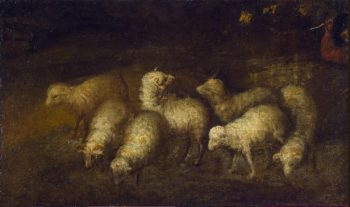 Sheep at a Watering Place | Murillo Bartolome Esteban | oil painting