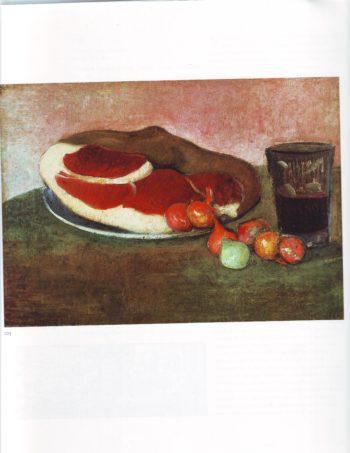 Still life with ham | Jacob Meyer De Haan | oil painting