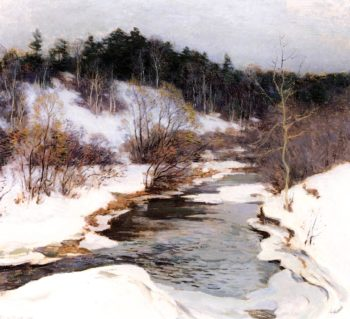 The Frozen Pool March 1909 | Willard Leroy Metcalf | oil painting