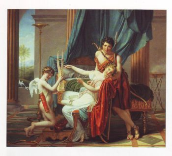 Sappho Phaon Cupid | Jacques Louis David | oil painting