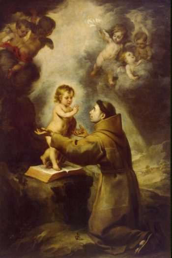 Vision of St Antony of Padua | Murillo Bartolome Esteban | oil painting