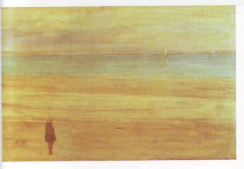Harmony in blue and silver trouville   James Mcneill Whistler   oil painting