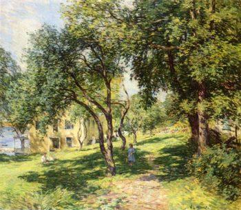 The Path 1915   Willard Leroy Metcalf   oil painting