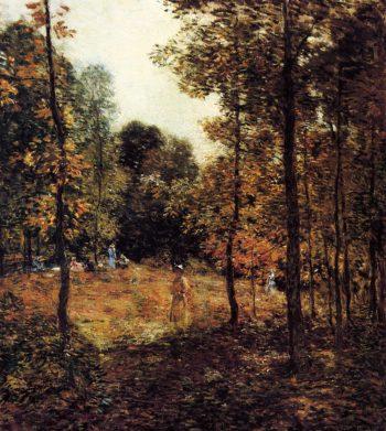 The Picnic 1907   Willard Leroy Metcalf   oil painting