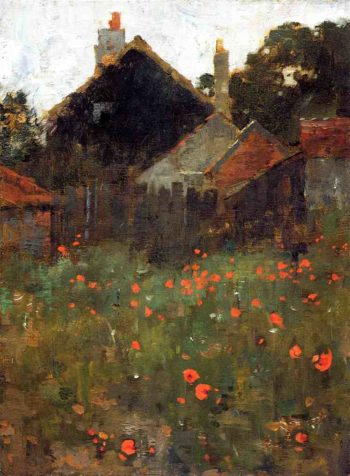 The Poppy Field | Willard Leroy Metcalf | oil painting
