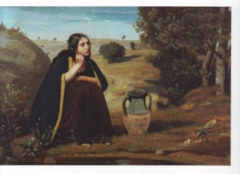 Rebecca at the well | Jean Baptiste Camille Corot | oil painting