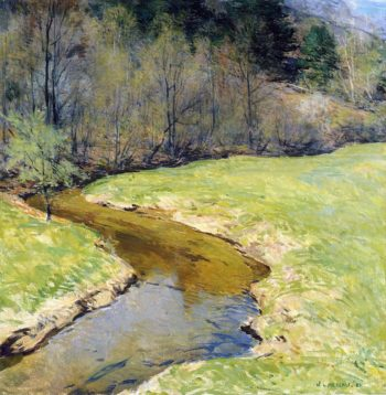 The Sunny Brook Chester Vermont 1923 | Willard Leroy Metcalf | oil painting