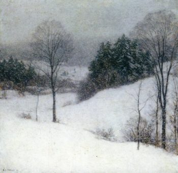The White Veil 1909 | Willard Leroy Metcalf | oil painting
