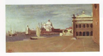 View of the grand canal   Jean Baptiste Camille Corot   oil painting