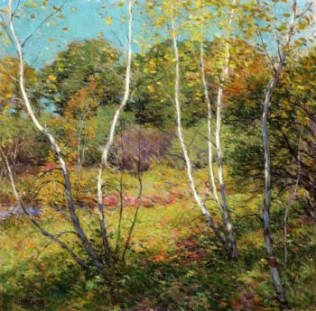 Waning Summer | Willard Leroy Metcalf | oil painting