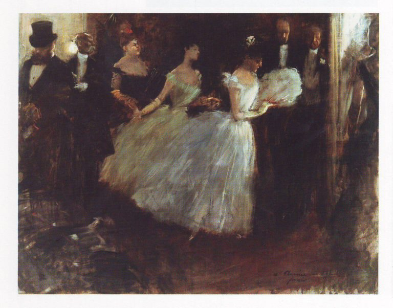 A soiree at the opera | Jean Louis Forain | oil painting