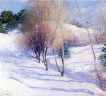Winter in New Hampshire 1914 | Willard Leroy Metcalf | oil painting