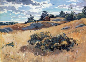 York Maine 1882 | Willard Leroy Metcalf | oil painting