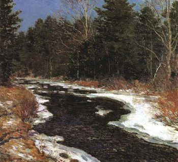 Snowy River | Willard Leroy Metcalf | oil painting