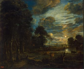Night Landscape with a River | Neer Aert van der | oil painting