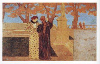 Conversation on a terrace | Ker Xavier Roussel | oil painting