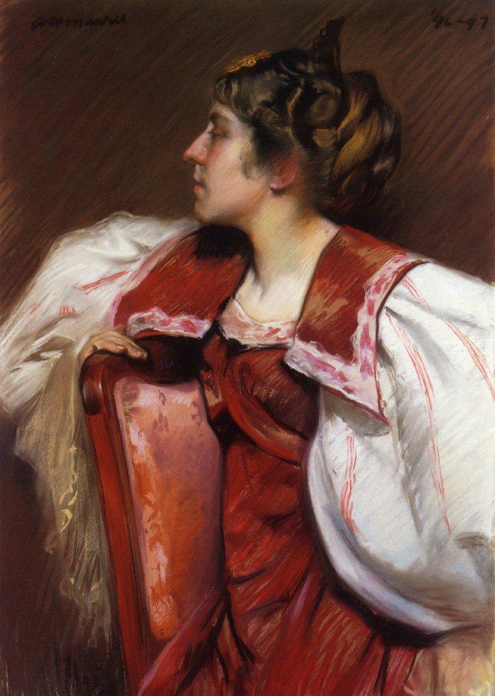 Eugenia Maurer 1897 | Alfred Henry Maurer | oil painting