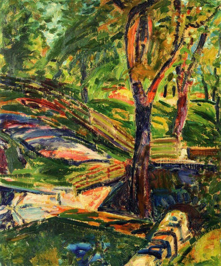 Fenced Landscape 1910 1912 | Alfred Henry Maurer | oil painting