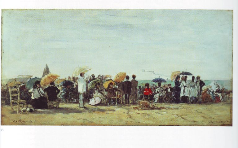 Beach at Trouville1 | Louis Eugene Boudin | oil painting