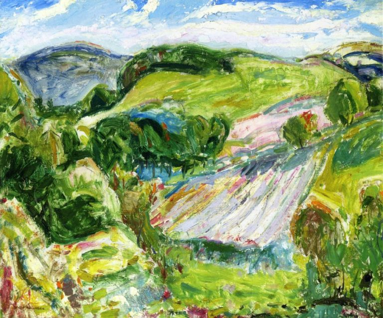 Fields 1912 | Alfred Henry Maurer | oil painting