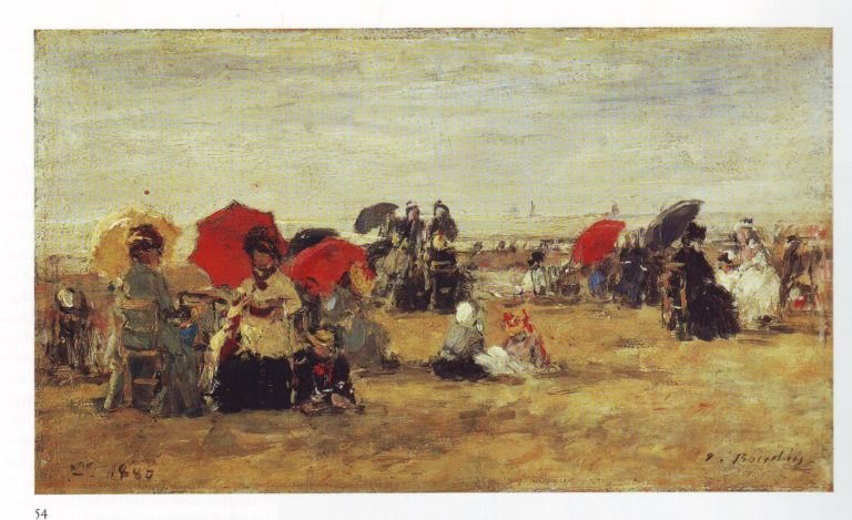 Beach at Trouville2 | Louis Eugene Boudin | oil painting