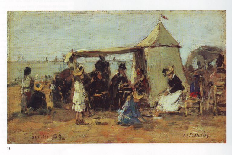 Beach at Trouville3 | Louis Eugene Boudin | oil painting