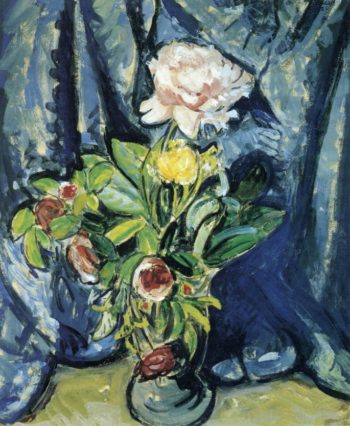 Flowers Against a Blue Drape 1926 | Alfred Henry Maurer | oil painting