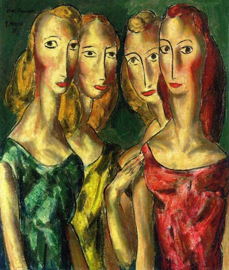 Four Sisters 1931 | Alfred Henry Maurer | oil painting
