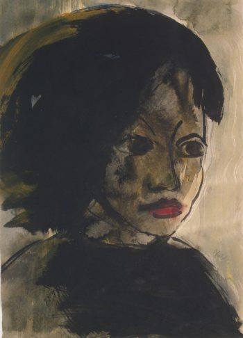 Portrait of a Young Girl | Nolde Emil | oil painting