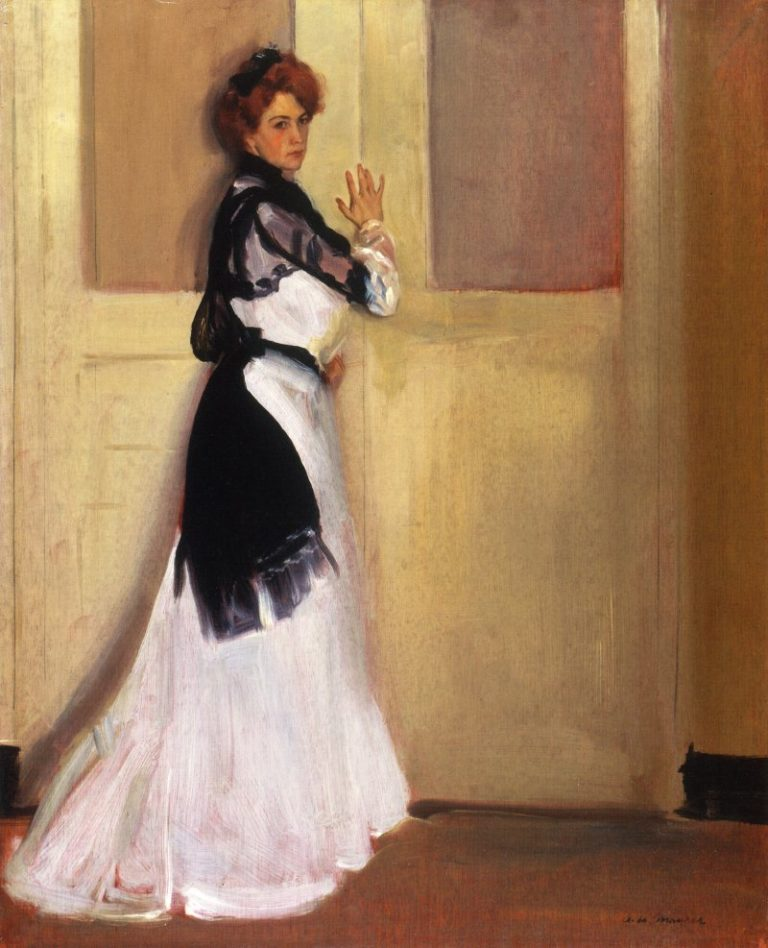 Girl in White 1901 | Alfred Henry Maurer | oil painting