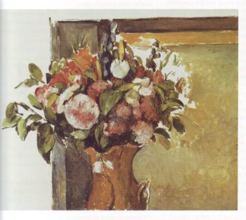 Flowers in a red vase | Paul Cezanne | oil painting
