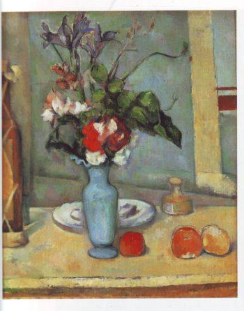 The blue vase | Paul Cezanne | oil painting