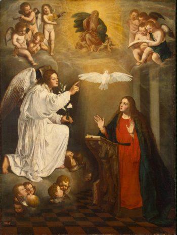 Annunciation | Nunez del Valle Pedro | oil painting