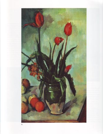 Tulips in a vase | Paul Cezanne | oil painting