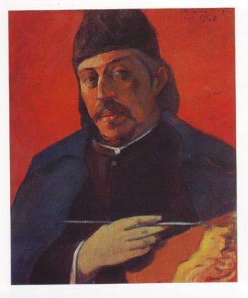 Self portrait with a palette | Paul Gauguin | oil painting