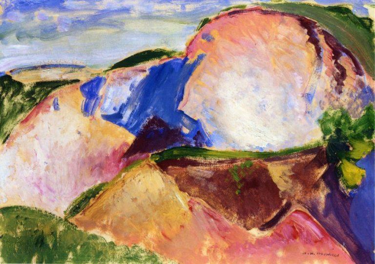 Landscape 1916-1918 | Alfred Henry Maurer | oil painting