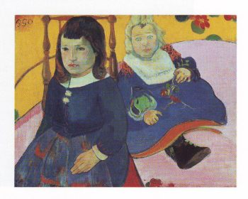 Two children | Paul Gauguin | oil painting