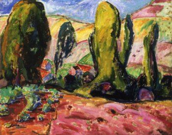 Landscape aka Autumn 1909 | Alfred Henry Maurer | oil painting