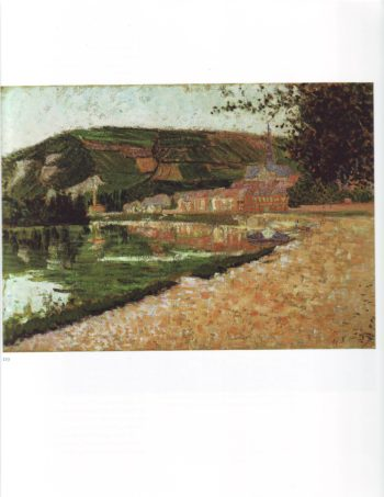 The seine at les andelys   Paul Signac   oil painting