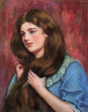 Portrait of a Young Beauty | Federico Zandomeneghi | oil painting