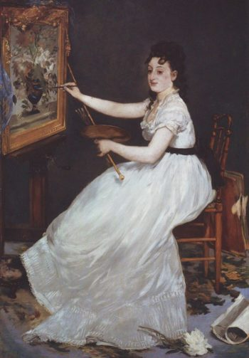 Portrait of mlle E G | Edouard Manet | oil painting