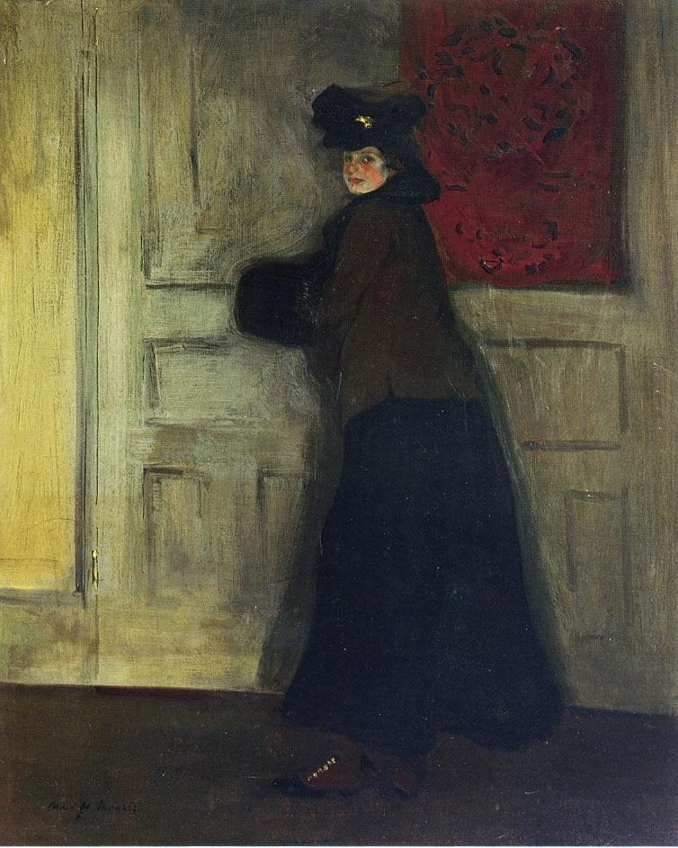 Lady with Muff 1904 | Alfred Henry Maurer | oil painting