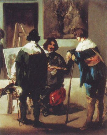 Velazquez in his studio | Edouard Manet | oil painting