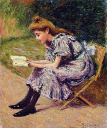 The Reader | Federico Zandomeneghi | oil painting
