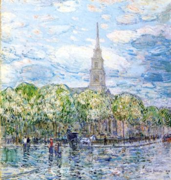 Saint Mark's in the Bowery | Frederick Childe Hassam | oil painting